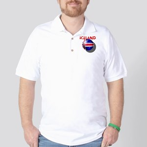 Icelandic Soccer Golf Shirt