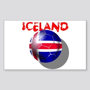 Icelandic Soccer Sticker (Rectangle)