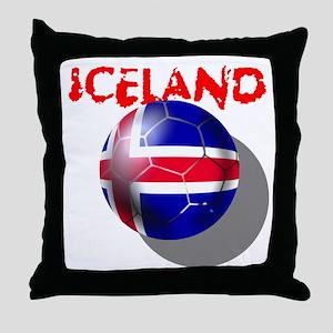 Icelandic Soccer Throw Pillow
