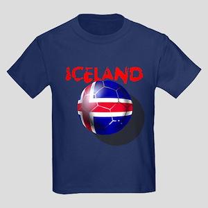 Icelandic Soccer Kids Dark T-Shirt