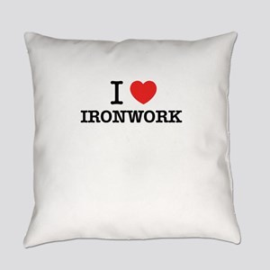I Love IRONWORK Everyday Pillow