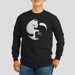 Cat yin yang T-shirt Long Sleeve T-Shirt