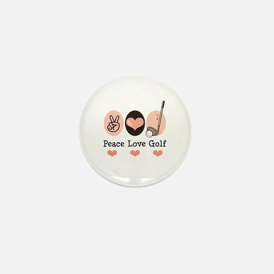 Peace Love Golf Golfing Mini Button