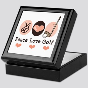 Peace Love Golf Golfing Keepsake Box