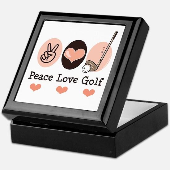 Peace Love Golf Golfing Keepsake Box