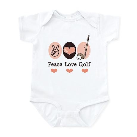 Peace Love Golf Golfing Infant Bodysuit