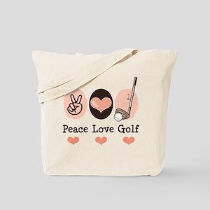 Peace Love Golf Golfing Tote Bag