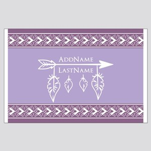 Fathers and Arrow Monogram Name Large Poster