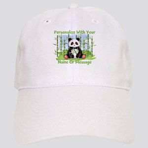 PERSONALIZED Panda With Bamboo Baseball Cap