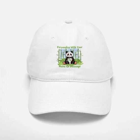 PERSONALIZED Panda With Bamboo Baseball Baseball Baseball Cap