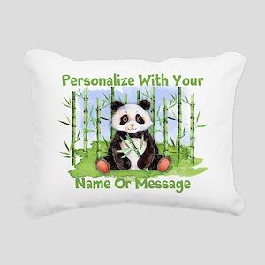 PERSONALIZED Panda With Bamboo Rectangular Canvas