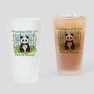 PERSONALIZED Panda With Bamboo Drinking Glass