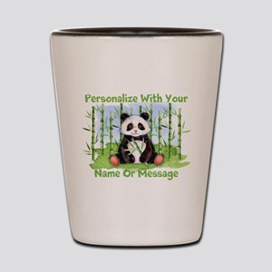 PERSONALIZED Panda With Bamboo Shot Glass