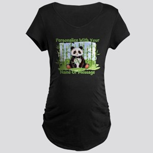 PERSONALIZED Panda With Bamboo Maternity T-Shirt
