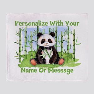Personalized Panda Bamboo Throw Blanket