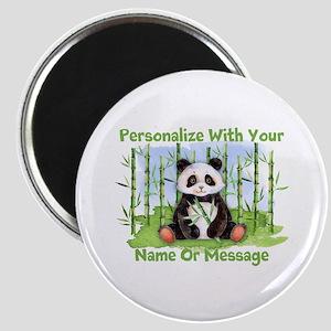 Personalized Panda Bamboo Magnet