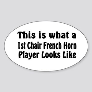 1st Chair French Horn Oval Sticker