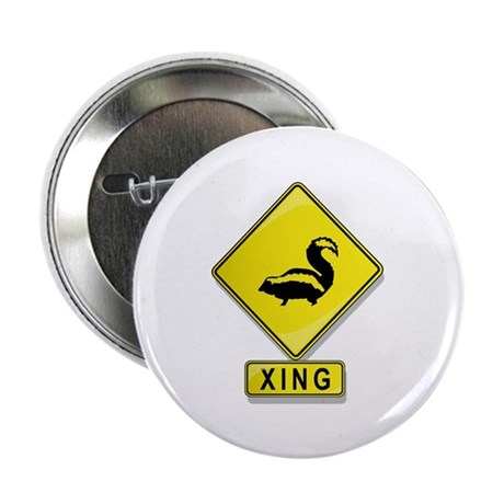 "Skunk XING 2.25"" Button (100 pack)"