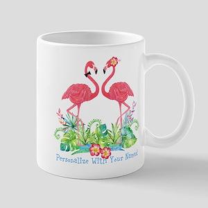 PERSONALIZED Flamingo Couple Mugs