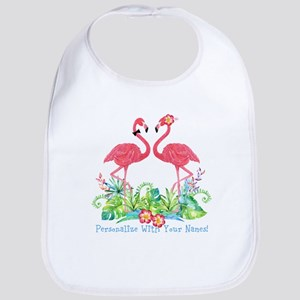 PERSONALIZED Flamingo Couple Bib