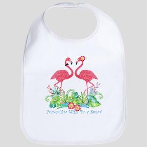 PERSONALIZED Flamingo Couple Bib
