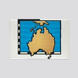 Map of Australia Rectangle Magnet