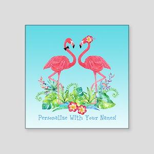 PERSONALIZED Flamingo Couple Sticker