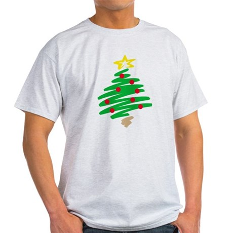 CHRISTMAS TREE (HAND-DRAWN) Light T-Shirt