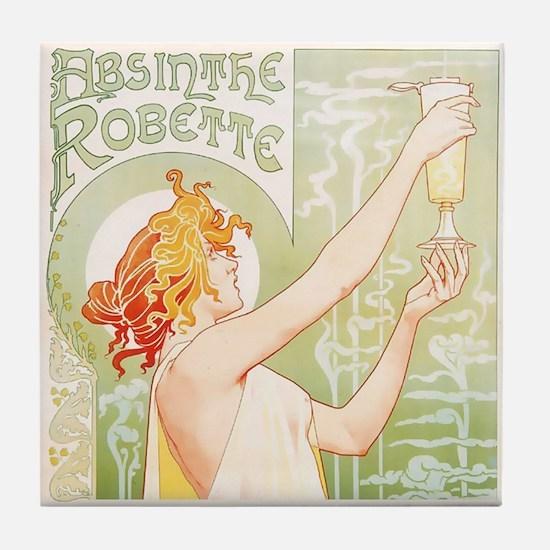 Robette Absinthe Poster Tile Coaster