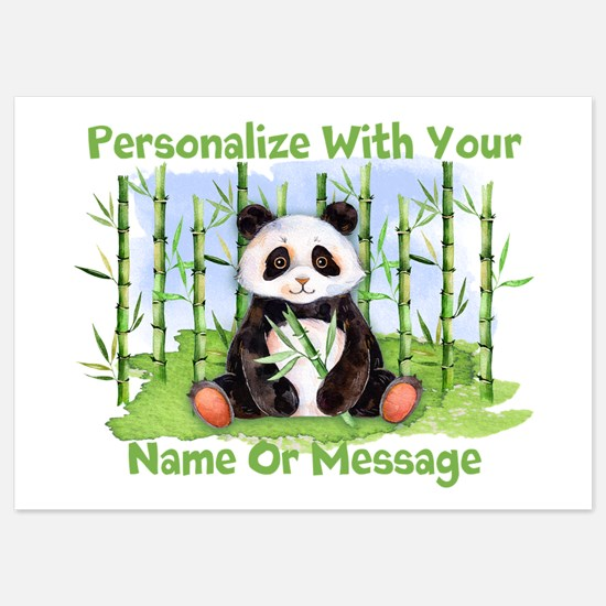 PERSONALIZED Panda With Bamboo Invitations