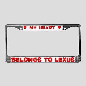 Heart Belongs to Lexus - License Plate Frame