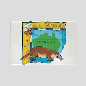 Australia Platypus Rectangle Magnet