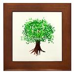 Earth Day / I hug tree Framed Tile