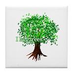 Earth Day / I hug tree Tile Coaster