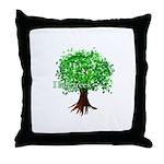 Earth Day / I hug tree Throw Pillow