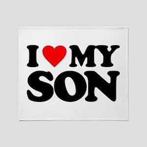 I LOVE MY SON Throw Blanket