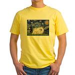 Starry / Pekingese(w) Yellow T-Shirt