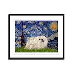 Starry / Pekingese(w) Framed Panel Print