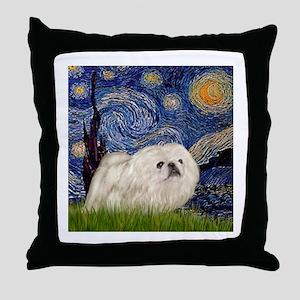 Starry / Pekingese(w) Throw Pillow