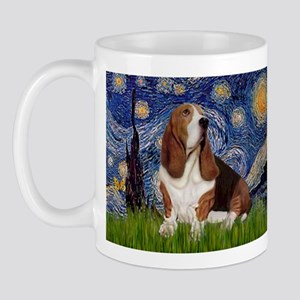 Starry Night & Basset Mug