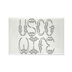 USCG Wife Rectangle Magnet (100 pack)
