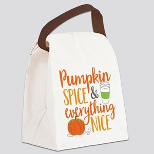 Pumpkin Spice and Everything Nice Canvas Lunch Bag