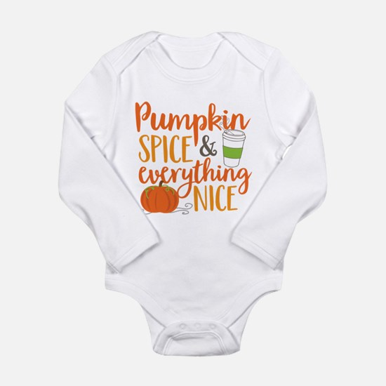 Pumpkin Spice and Ever Long Sleeve Infant Bodysuit