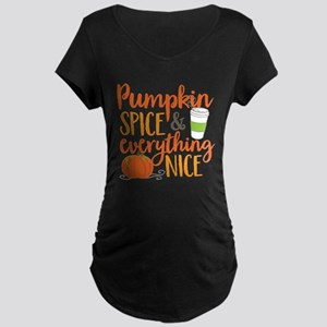 Pumpkin Spice and Everythin Maternity Dark T-Shirt