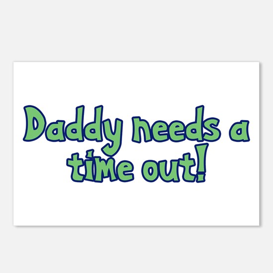 Time Out Dad Postcards (Package of 8)