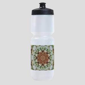 botanical bohemian boho floral Sports Bottle