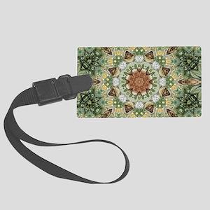 botanical bohemian boho floral Large Luggage Tag