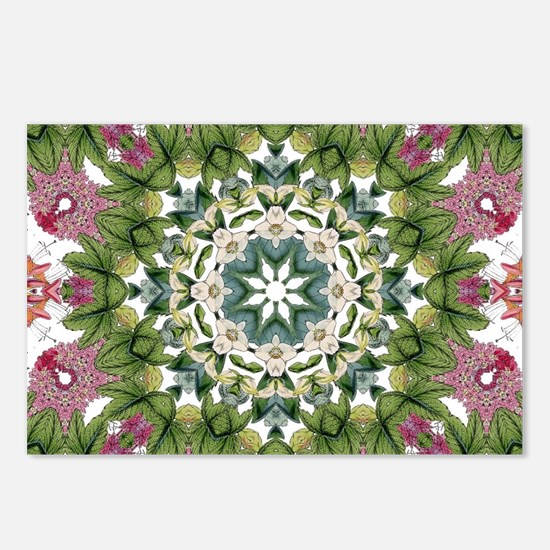 bohemian Chic boho floral Postcards (Package of 8)
