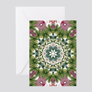 bohemian Chic boho floral Greeting Cards