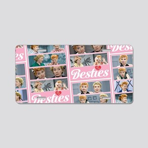 I Love Lucy: Besties Patter Aluminum License Plate